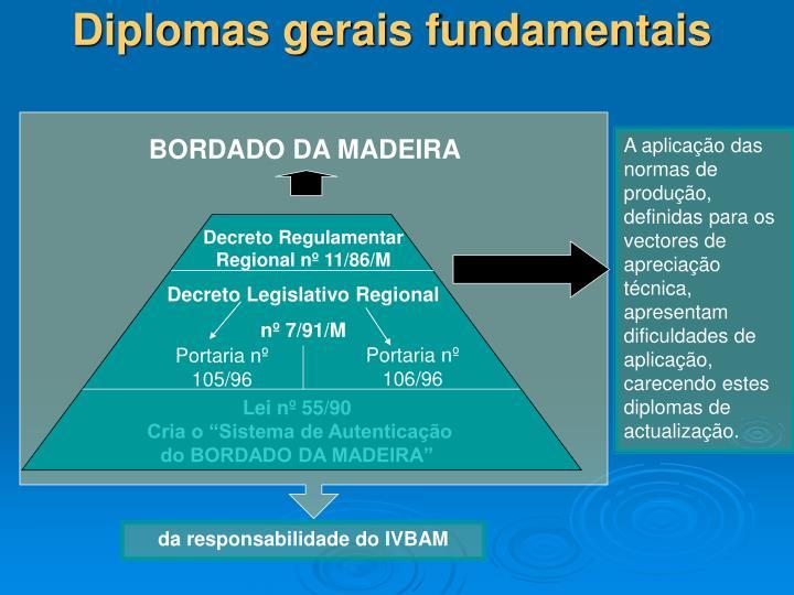 Diplomas gerais fundamentais