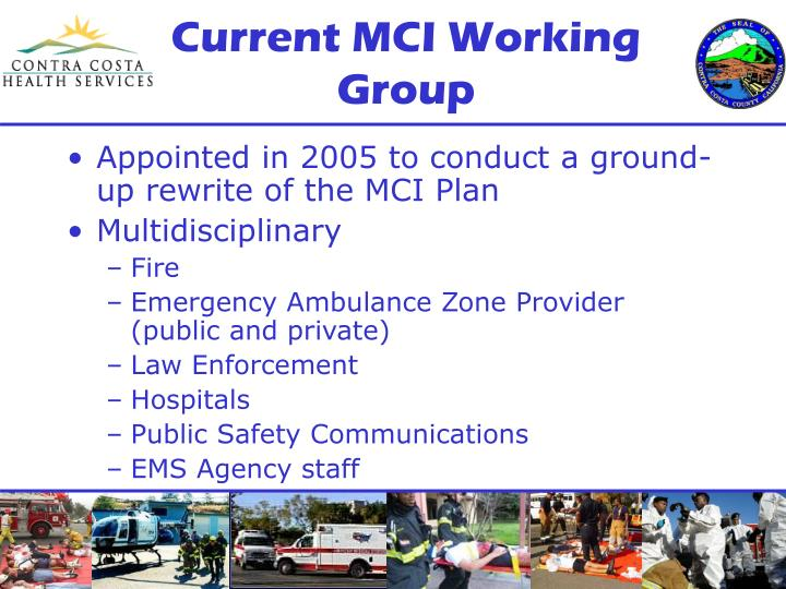 Current MCI Working Group