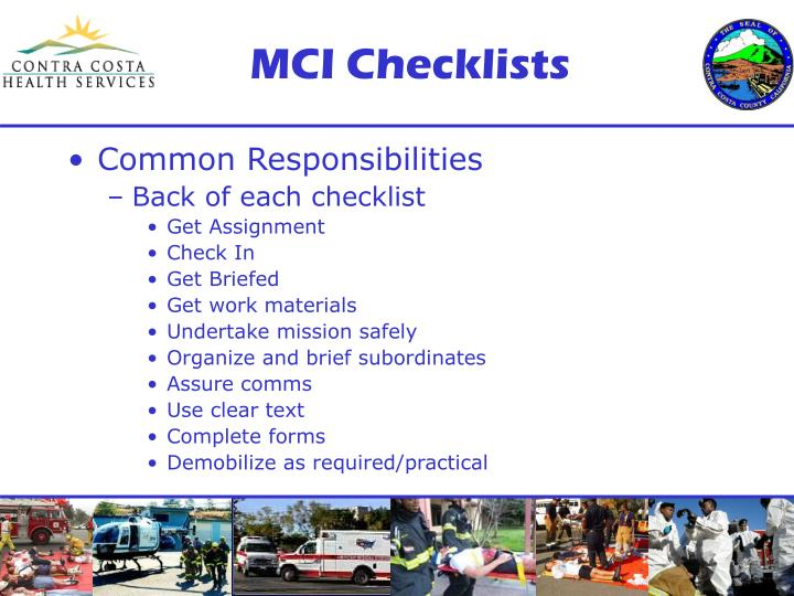 MCI Checklists