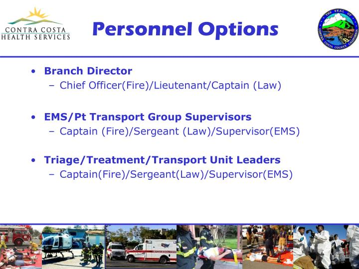 Personnel Options