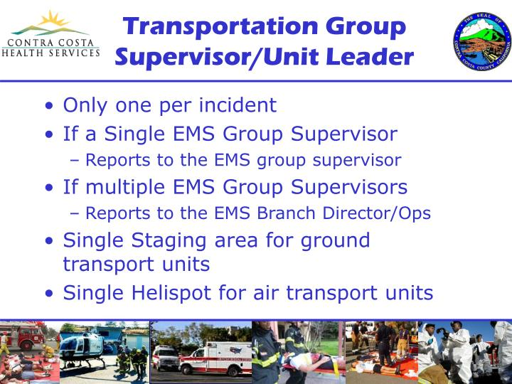Transportation Group Supervisor/Unit Leader