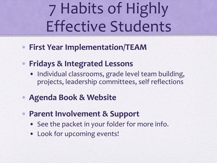 7 Habits of Highly Effective Students