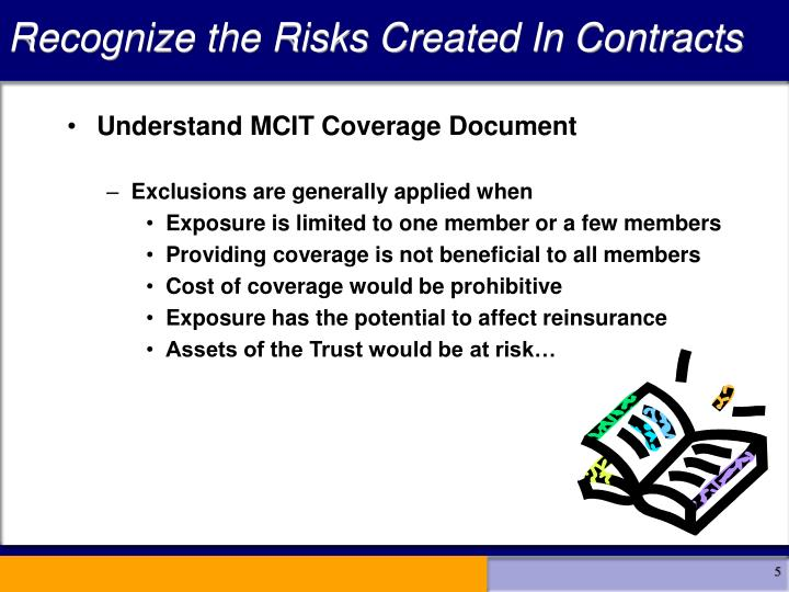 Recognize the Risks Created In Contracts