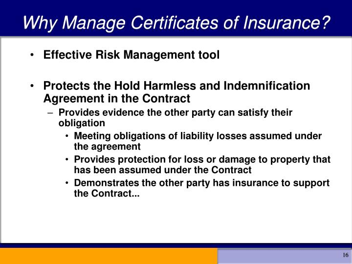 Why Manage Certificates of Insurance?