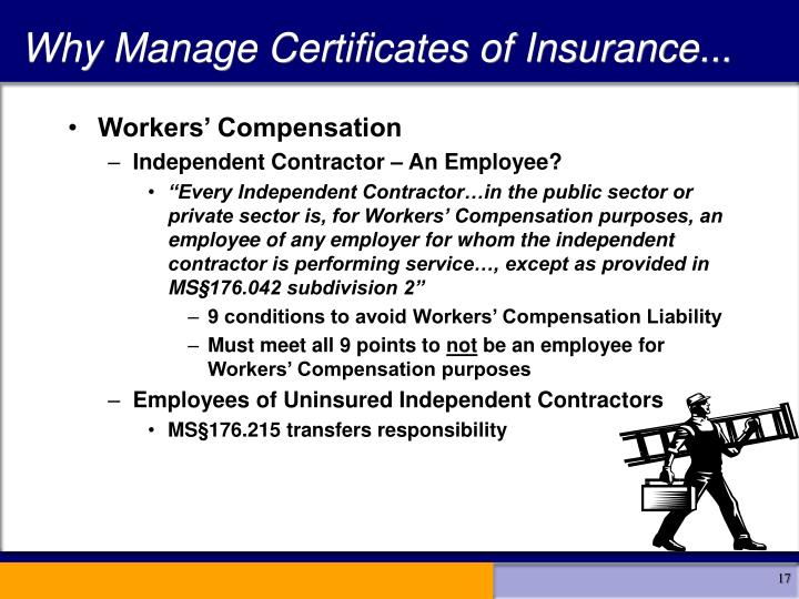 Why Manage Certificates of Insurance...