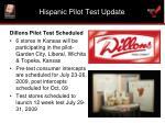 hispanic pilot test update