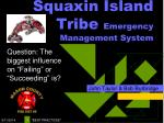 squaxin island tribe emergency management system
