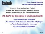 coal cornerstone to america s energy security