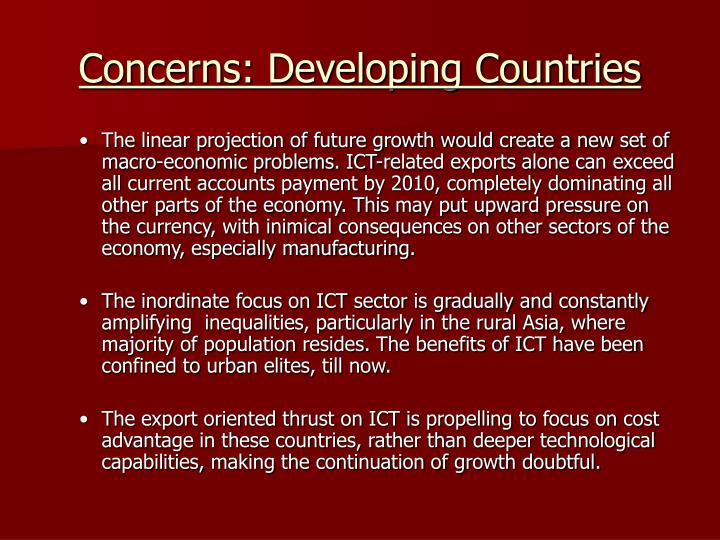 Concerns: Developing Countries