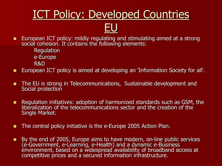 ICT Policy: Developed Countries