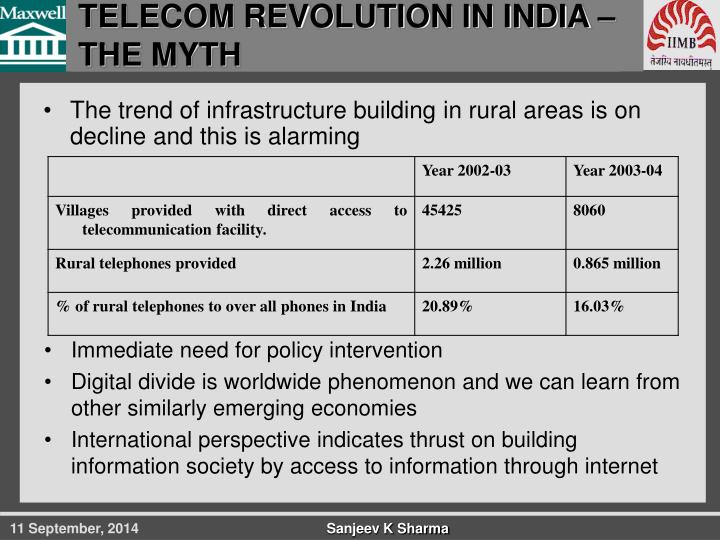 TELECOM REVOLUTION IN INDIA – THE MYTH