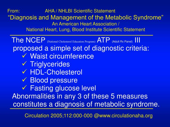 From: 		   AHA / NHLBI Scientific Statement