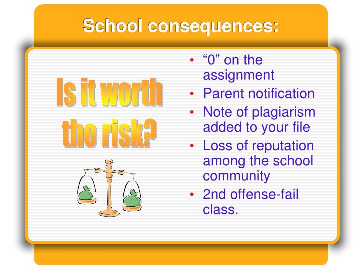 School consequences: