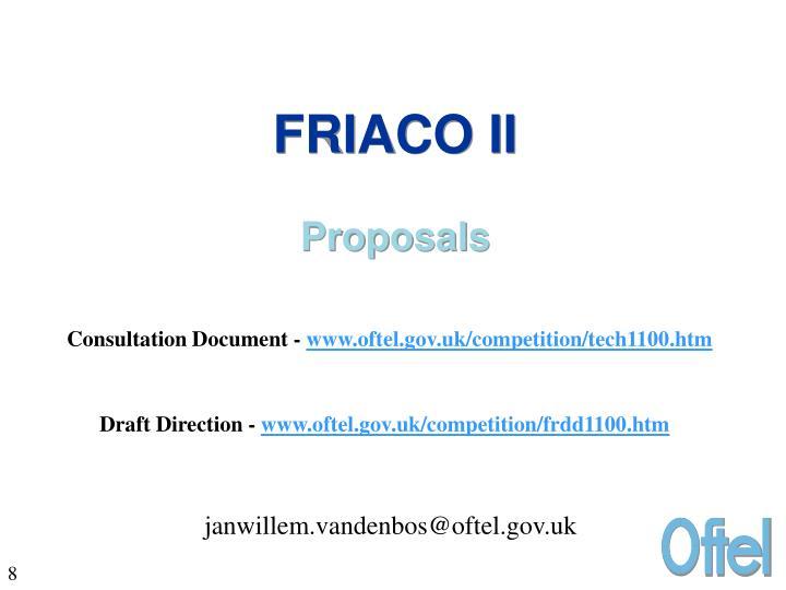 FRIACO II