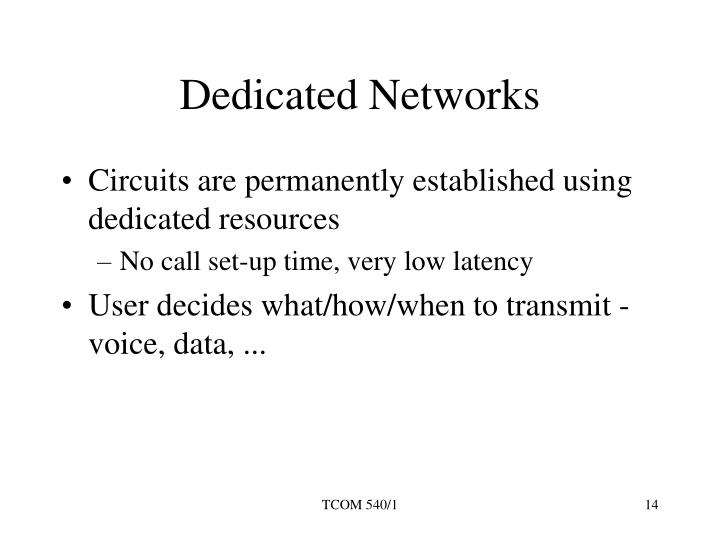 Dedicated Networks