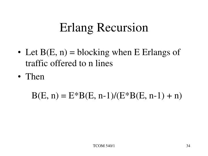 Erlang Recursion