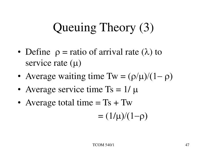 Queuing Theory (3)