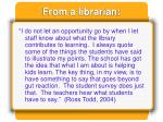 from a librarian