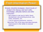 from information power