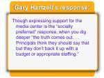 gary hartzell s response