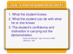 how is learning demonstrated
