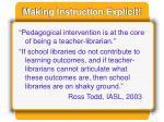 making instruction explicit