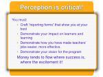perception is critical
