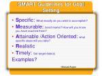 smart guidelines for goal setting