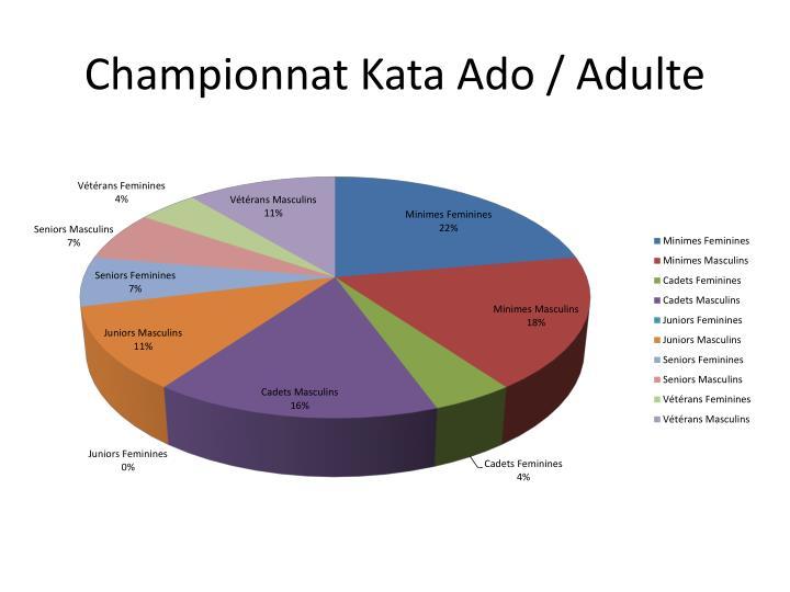Championnat Kata Ado / Adulte