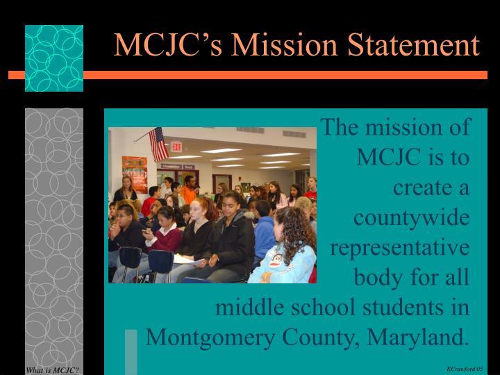 MCJC's Mission Statement