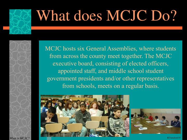 What does MCJC Do?