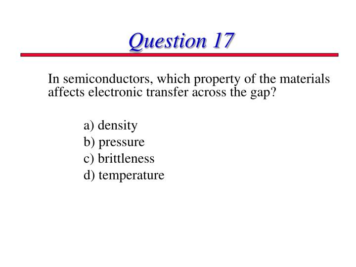 Question 17