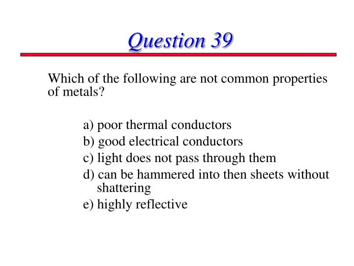 Question 39