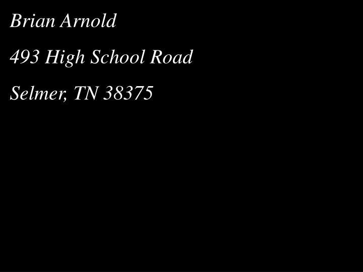 Brian Arnold
