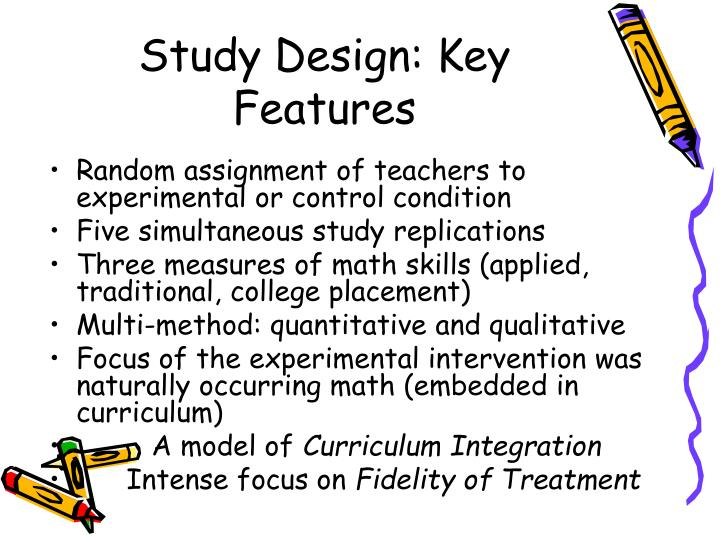 Study Design: Key Features