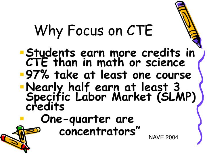 Students earn more credits in CTE than in math or science