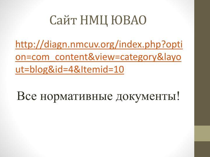 Сайт НМЦ ЮВАО