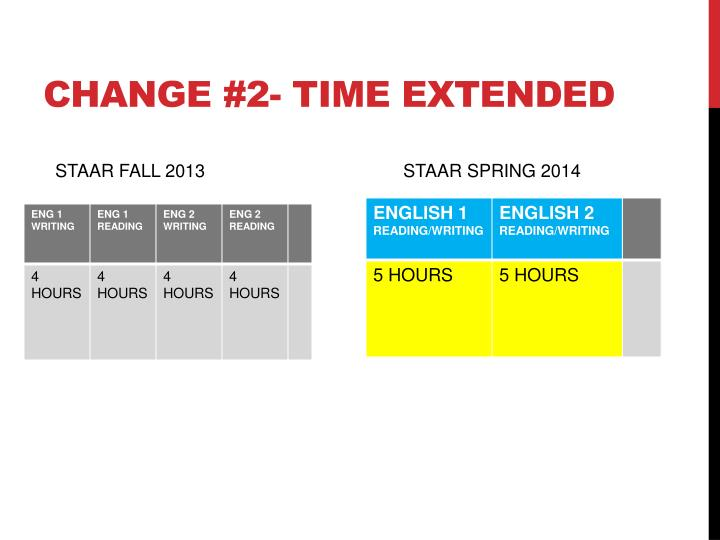 Change 2 time extended