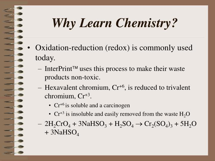 Why Learn Chemistry?