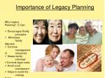 importance of legacy planning