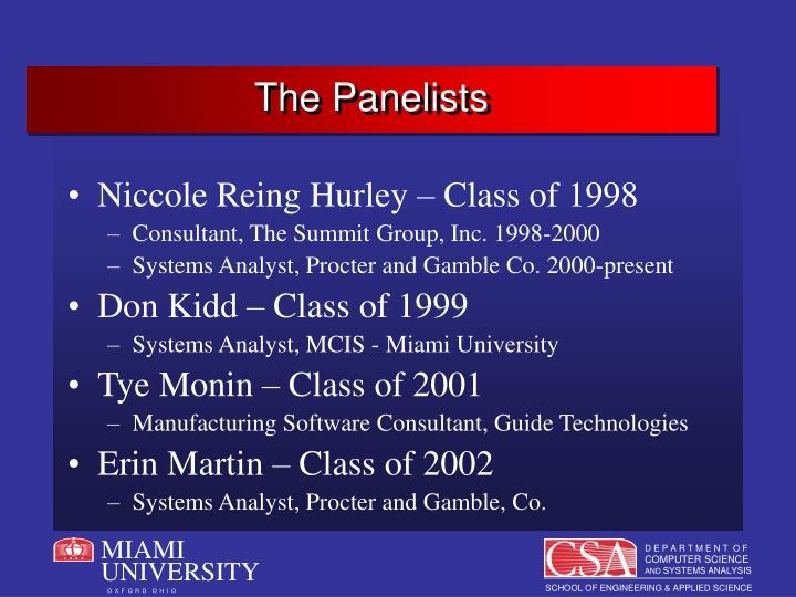 The panelists