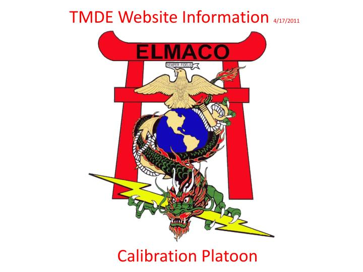 Tmde website information 4 17 2011
