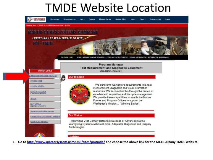 Tmde website location