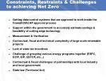 constraints restraints challenges to achieving net zero