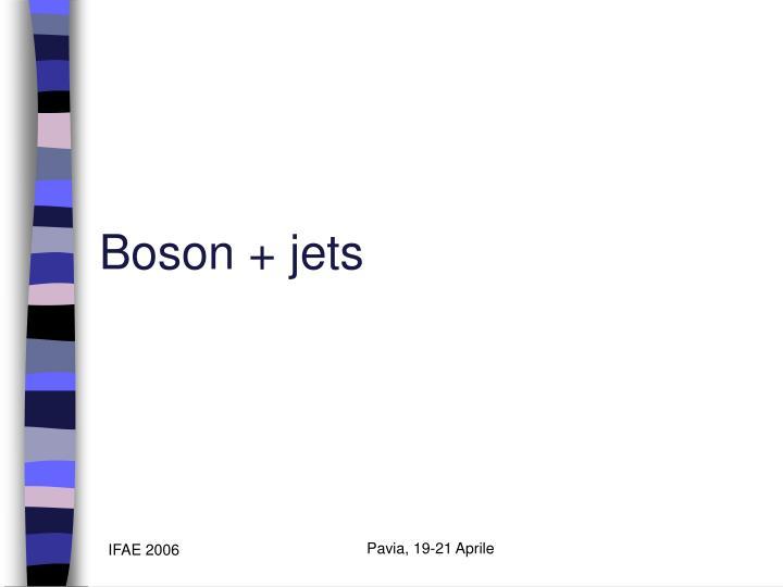 Boson + jets