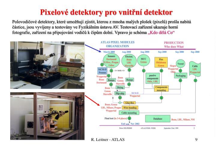 Pixelové detektory pro vnitřní detektor