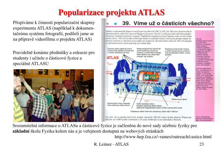 Popularizace projektu ATLAS
