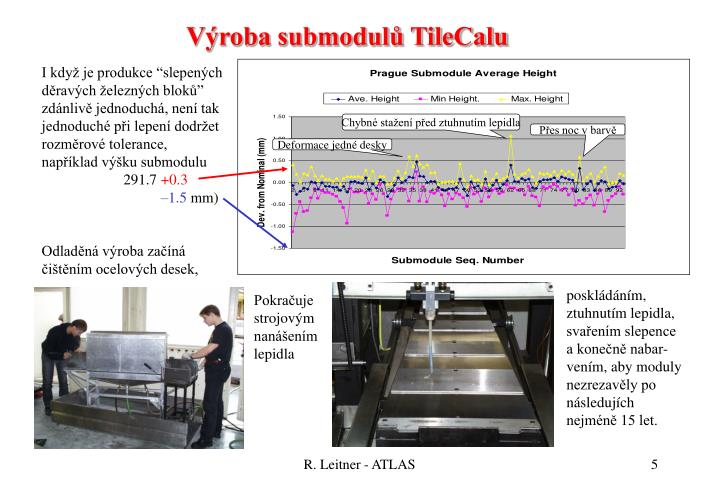 Výroba submodulů TileCalu