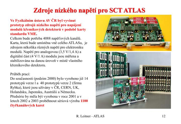 Zdroje nízkého napětí pro SCT ATLAS