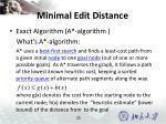 minimal edit distance5